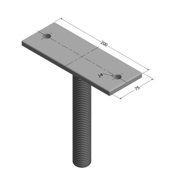 Straight Adjustable House Stump Top LevelMaster Australia