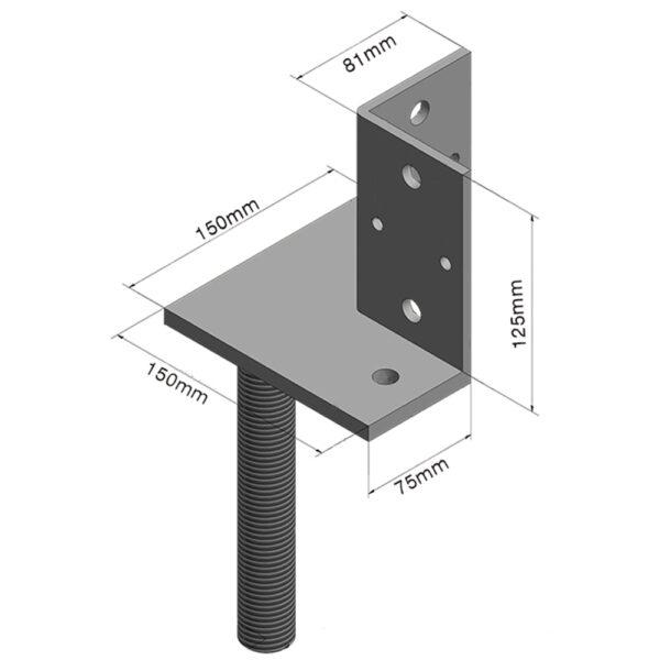 Vertical Large Corner Adjustable House Stump Top LevelMaster Australia