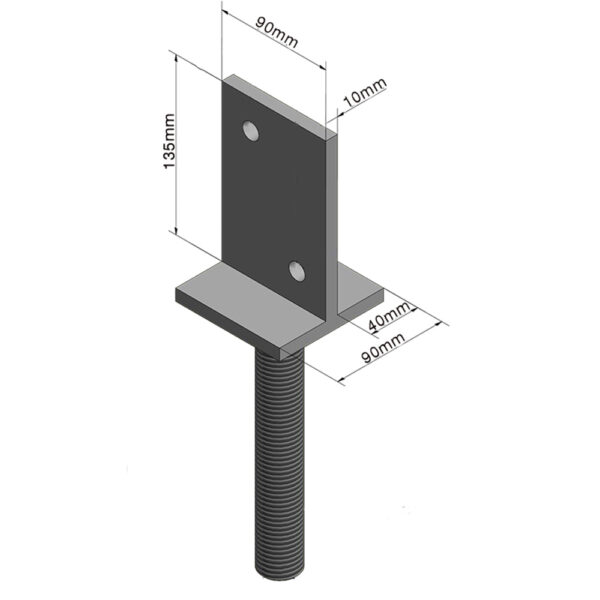 Vertical Plate 90mm Adjustable House Stump Top LevelMaster Australia