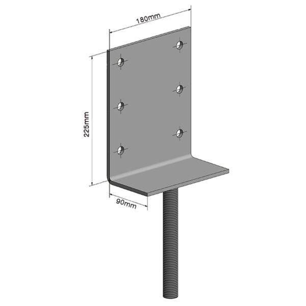 Vertical Extra Large Adjustable House Stump Top LevelMaster Australia