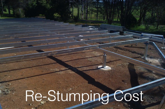 House stumps steel piers stringers brisbane levelmaster for Steel piers for house